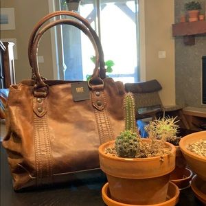 New Frye Melissa Tote // dark brown